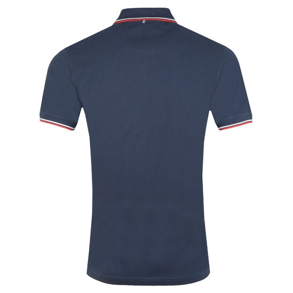Pretty Green Mens Blue Tipped Pique Polo Shirt main image