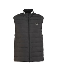 Fred Perry Mens Black Insulated Gilet