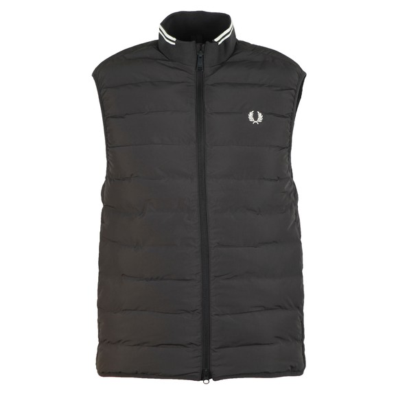 Fred Perry Mens Black Insulated Gilet main image