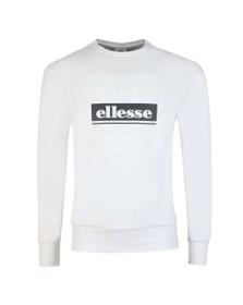 Ellesse Mens White Catria Sweatshirt