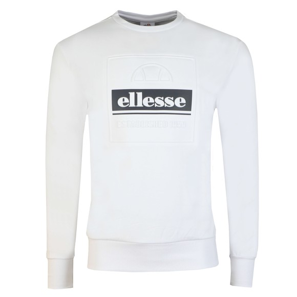 Ellesse Mens White Catria Sweatshirt main image