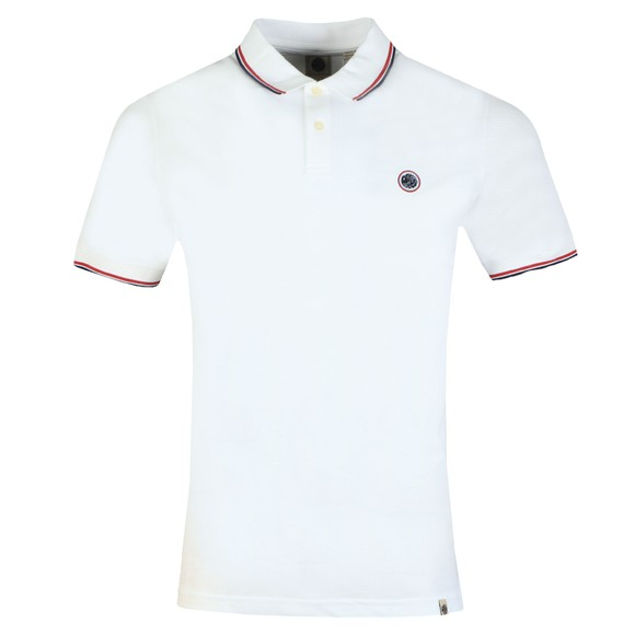Pretty Green Mens White Tipped Pique Polo main image