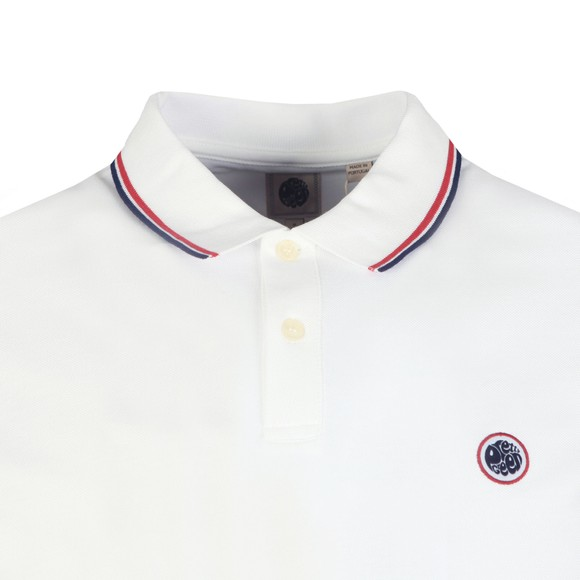 Pretty Green Mens White Tipped Pique Polo Shirt