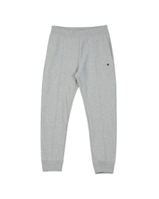 Champion Reverse Weave Mens Grey Small Logo Rib Cuff Jogger