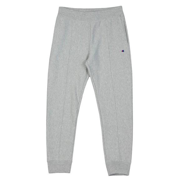 Champion Reverse Weave Mens Grey Small Logo Rib Cuff Jogger