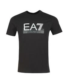 EA7 Emporio Armani Mens Black Logo T-Shirt