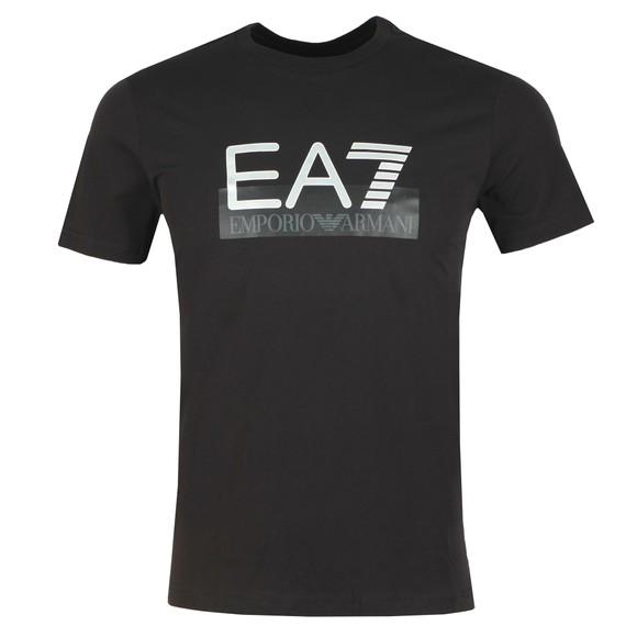 EA7 Emporio Armani Mens Black Logo Tee main image