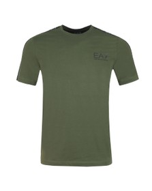 EA7 Emporio Armani Mens Green Panel Tee
