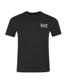 EA7 Emporio Armani Mens Black Panel Tee