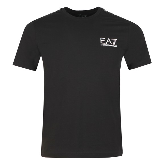 EA7 Emporio Armani Mens Black Panel Tee main image