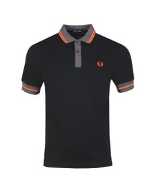 Fred Perry Mens Black Contrast Trim Polo