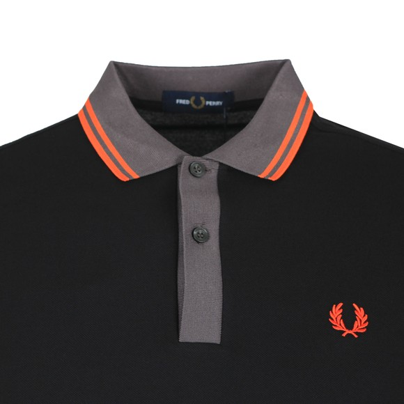Fred Perry Mens Black Contrast Trim Polo main image