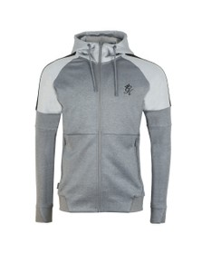 Gym King Mens Grey Core Plus Poly Contrast Hoody