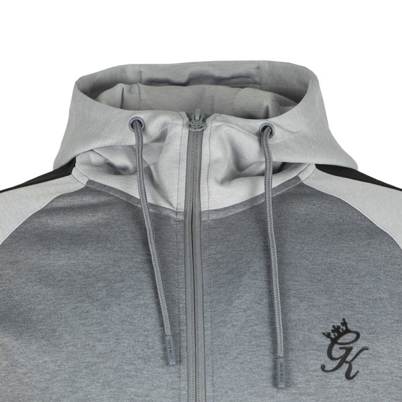 Gym King Mens Grey Core Plus Poly Contrast Hoody main image