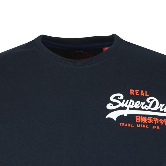 Superdry Mens Blue Vintage Logo Racer T-Shirt main image