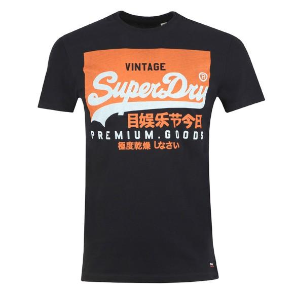 Superdry Mens Black Vintage Logo Tee
