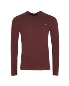 Superdry Mens Purple Orange Label Texture LS T-Shirt