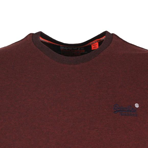 Superdry Mens Purple Orange Label Texture LS T-Shirt main image