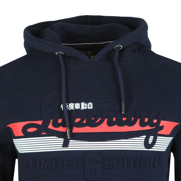 Superdry Mens Blue Embossed Classic Hood main image