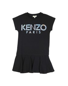 Kenzo Kids Girls Black Sport Logo T Shirt Dress