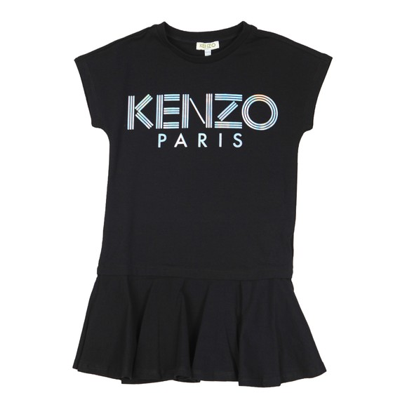 Kenzo Kids Girls Black Sport Logo T Shirt Dress
