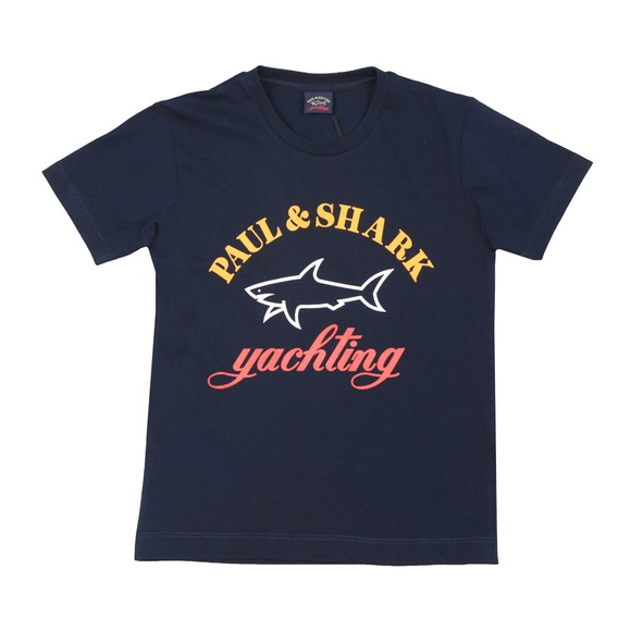 Paul & Shark Cadets Boys Blue K1020 Large Logo T Shirt