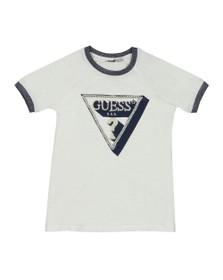 Guess Girls White Pearl Logo T Shirt