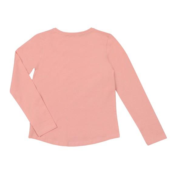Guess Girls Pink Sequin Logo T Shirt