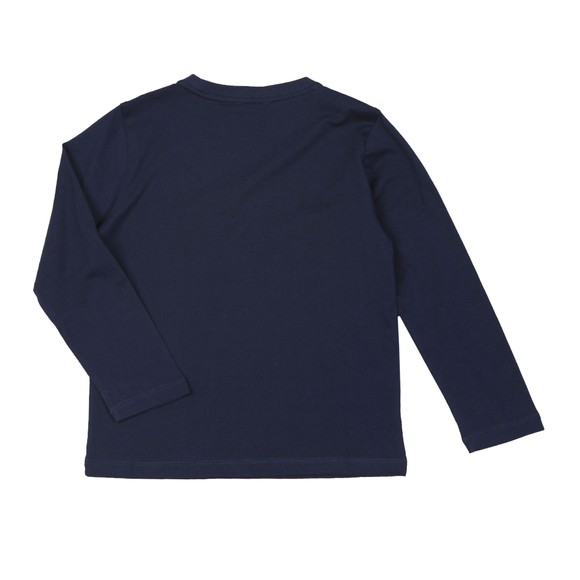 EA7 Emporio Armani Boys Blue Small Logo Long Sleeve T Shirt main image