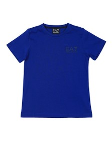 EA7 Emporio Armani Boys Blue Boys 6GBT51 Small Logo T Shirt