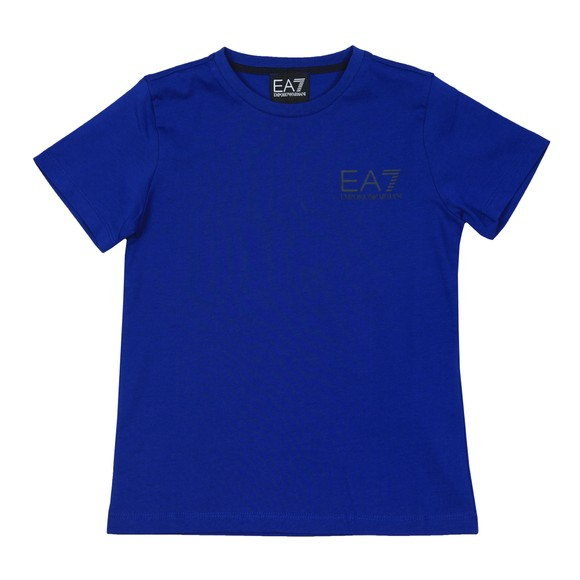 EA7 Emporio Armani Boys Blue Boys 6GBT51 Small Logo T Shirt main image