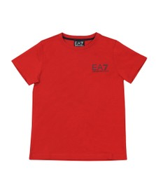EA7 Emporio Armani Boys Red Boys 6GBT51 Small Logo T Shirt