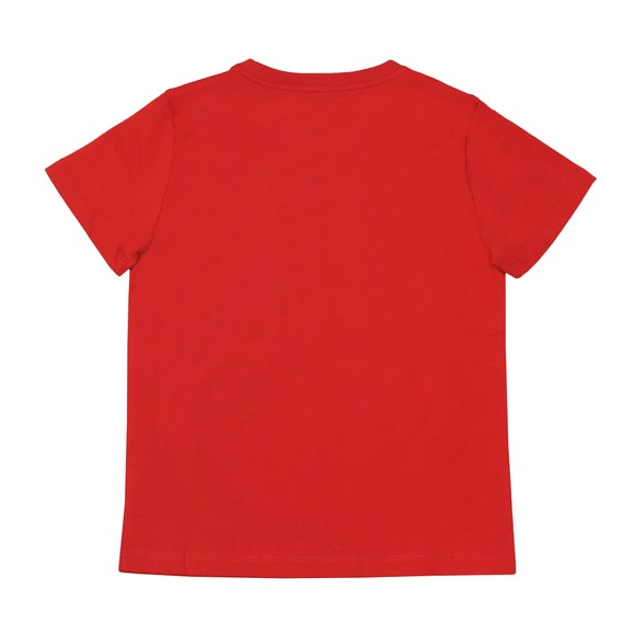 EA7 Emporio Armani Boys Red Boys 6GBT51 Small Logo T Shirt main image