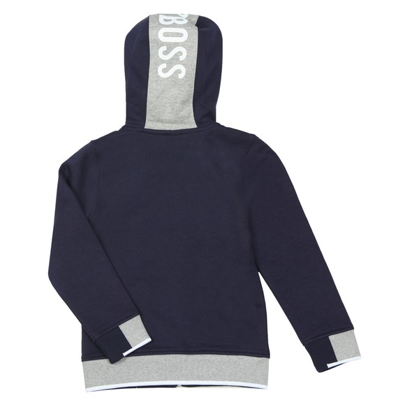BOSS Boys Blue Boys J25E53 Full Zip Hoody