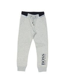 BOSS Boys Grey Boys J24617 Logo Jogger