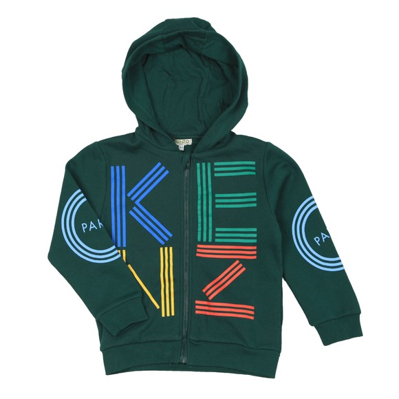 Kenzo Kids Boys Green Sport Line Zip Hoody main image