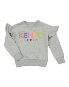 Kenzo Kids Girls Grey Girls Sport Line Logo Sweatshirt