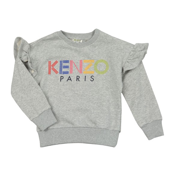 Kenzo Kids Girls Grey Girls Sport Line Logo Sweatshirt