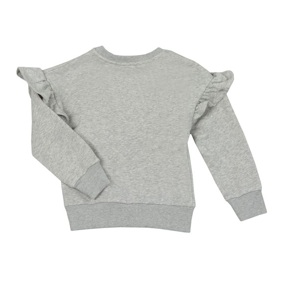 Kenzo Kids Girls Grey Girls Sport Line Logo Sweatshirt main image