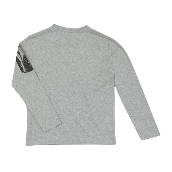 C.P. Company Undersixteen Boys Grey Viewfinder Sleeve Logo Long Sleeve T Shirt