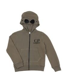 C.P. Company Undersixteen Boys Green Full Zip Goggle Hoody