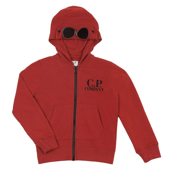 C.P. Company Undersixteen Boys Red Full Zip Goggle Hoody main image
