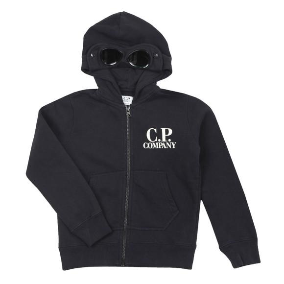 C.P. Company Undersixteen Boys Blue Full Zip Goggle Hoody
