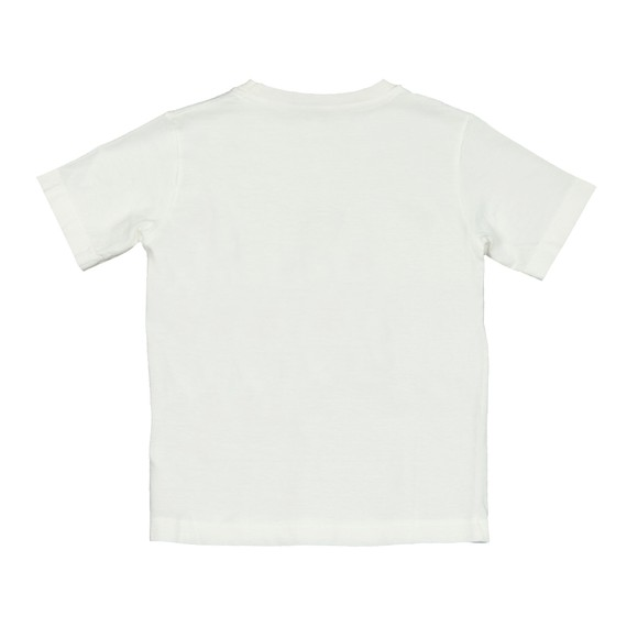 C.P. Company Undersixteen Boys Off-White Embroidered Logo T Shirt main image