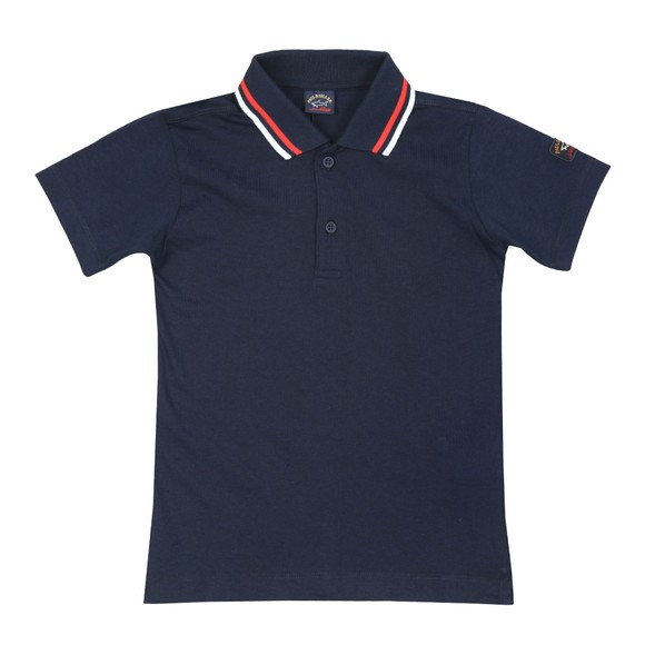 Paul & Shark Cadets Boys Blue Tipped Polo Shirt main image