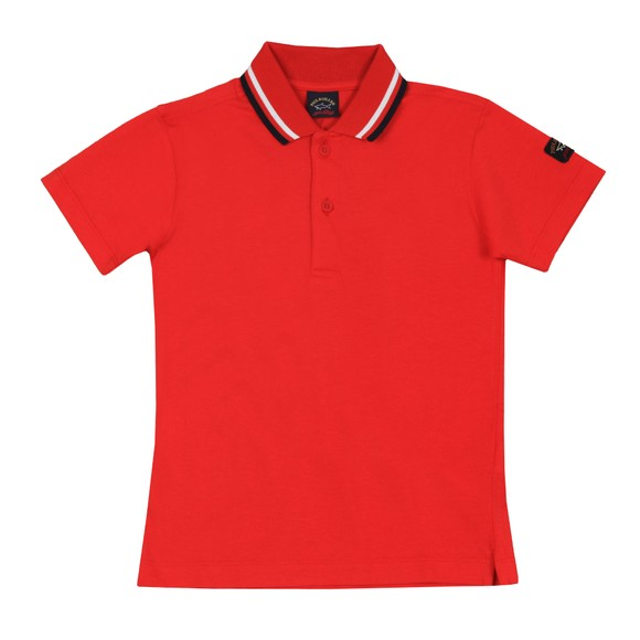 Paul & Shark Cadets Boys Red Tipped Polo Shirt main image