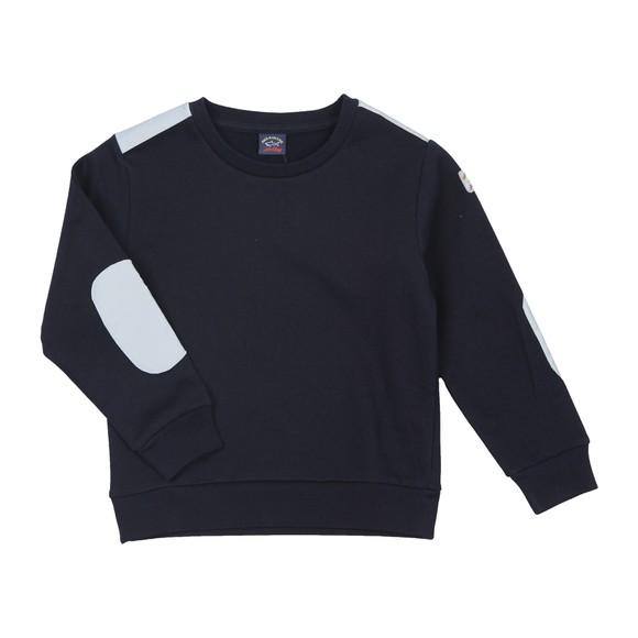 Paul & Shark Cadets Boys Blue Reflective Panel Sweatshirt