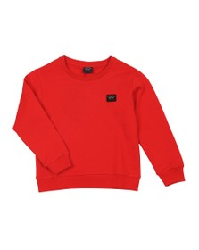 Paul & Shark Cadets Boys Red Small Logo Sweatshirt
