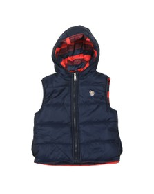 Paul Smith Junior Boys Blue Hooded Reversible Gilet