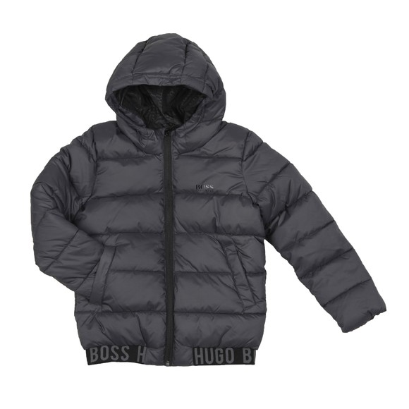 BOSS Boys Grey Boys J26387 Puffer Jacket main image
